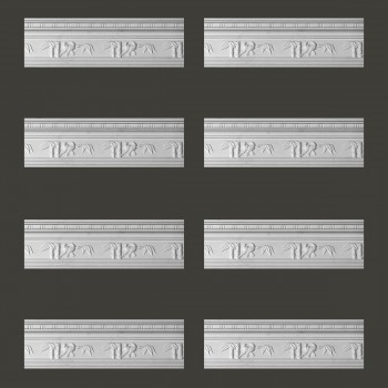 <PRE>Renovator's Supply Cornice White Urethane Tropicana Ornate Design 8 Pieces Totaling 764inch Length</PRE>zoom2