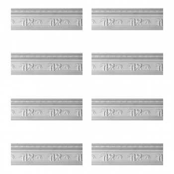 <PRE>Renovator's Supply Cornice White Urethane Tropicana Ornate Design 8 Pieces Totaling 764inch Length</PRE>zoom1