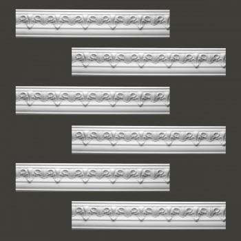<PRE>Renovator's Supply Cornice White Urethane Hopkins Ornate Design 6 Pieces Totaling 573inch Length</PRE>zoom2