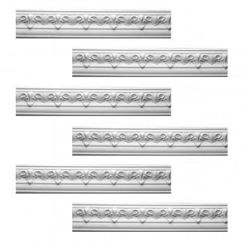 <PRE>Renovator's Supply Cornice White Urethane Hopkins Ornate Design 6 Pieces Totaling 573inch Length</PRE>zoom1