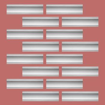 <PRE>Renovator's Supply Cornice White Urethane Golder Design 16 Pieces Totaling 1520inch Length</PRE>zoom2