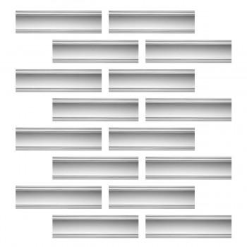 <PRE>Renovator's Supply Cornice White Urethane Golder Design 16 Pieces Totaling 1520inch Length</PRE>zoom1
