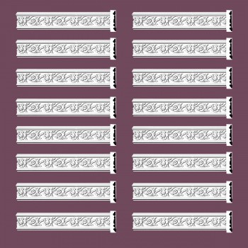 Renovators Supply Crown Molding White Urethane Radcliff Ornate  16 Pieces Totaling 1504 Length White PrePrimed Urethane Crown Cornice Molding Cornice Crown Home Depot Ekena Millwork Molding Wall Ceiling Corner Cornice Crown Cove Molding