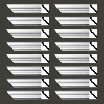 <PRE>Renovator's Supply Cornice White Urethane Haverhill Design 16 Pieces Totaling 1504inch Length</PRE>zoom2