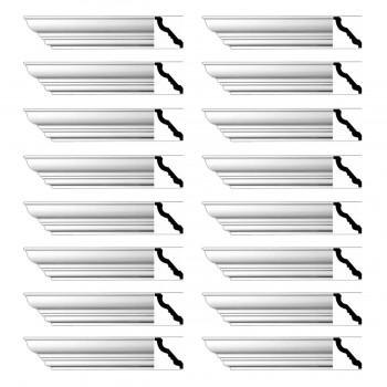 <PRE>Renovator's Supply Cornice White Urethane Haverhill Design 16 Pieces Totaling 1504inch Length</PRE>zoom1