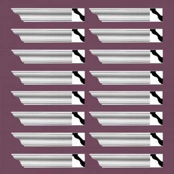 <PRE>Renovator's Supply Simple Cornice White Urethane Halifax Design 16 Pieces Totaling 1536inch Length</PRE>zoom2