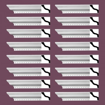 <PRE>Renovator's Supply Ornate Cornice White Urethane Hawley Design 16 Pieces Totaling 1504inch Length</PRE>zoom2