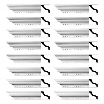 <PRE>Renovator's Supply Ornate Cornice White Urethane Hawley Design 16 Pieces Totaling 1504inch Length</PRE>zoom1