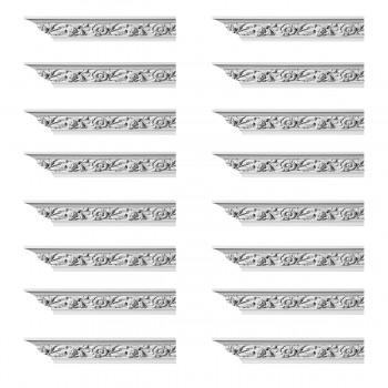 Renovators Supply Ornate Cornice White Urethane Ainsley Design 16 Pieces Totaling 1504 Length White PrePrimed Urethane Crown Cornice Molding Cornice Crown Home Depot Ekena Millwork Molding Wall Ceiling Corner Cornice Crown Cove Molding