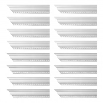 <PRE>Renovator's Supply Ornate Cornice White Urethane Corinth Design 16 Pieces Totaling 1504inch Length</PRE>zoom1
