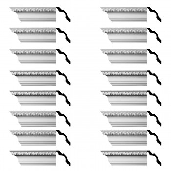 <PRE>Renovator's Supply Cornice White Urethane Bishop's Waltham Ornate  16 Pieces Totaling 1504inch Length</PRE>zoom1
