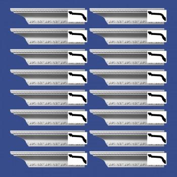 <PRE>Renovator's Supply  Ornate Cornice White Urethane Design 16 Pieces Totaling 1504inch Length</PRE>zoom2