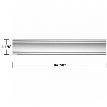 "spec-<PRE> Cornice White Urethane Jackson Simple Design 12 Pieces Totaling 1128"" Length</PRE>"