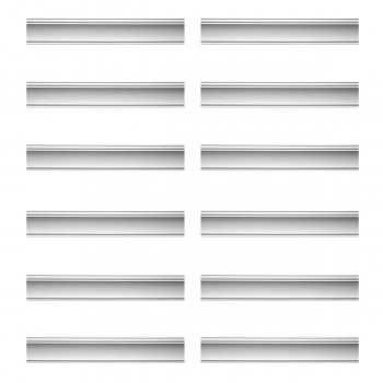 Renovators Supply Cornice White Urethane Merton Simple Design 12 Pieces Totaling 1134 Length White PrePrimed Urethane Crown Cornice Molding Cornice Crown Home Depot Ekena Millwork Molding Wall Ceiling Corner Cornice Crown Cove Molding