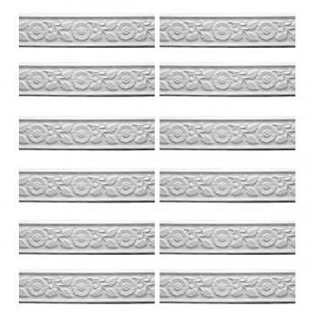 Renovators Supply Cornice White Urethane Leaf Design 12 Pieces Totaling 1128 Length White PrePrimed Urethane Crown Cornice Molding Cornice Crown Home Depot Ekena Millwork Molding Wall Ceiling Corner Cornice Crown Cove Molding