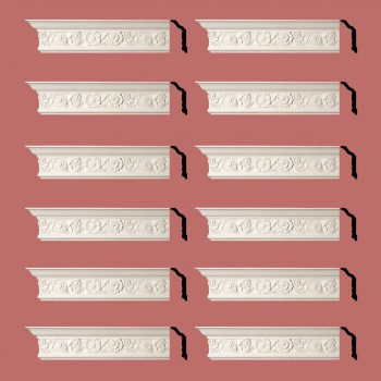 <PRE>Renovator's Supply Cornice White Urethane Colman Ornate Design 12 Pieces Totaling 1152inch Length</PRE>zoom2