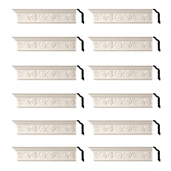 <PRE>Renovator's Supply Cornice White Urethane Colman Ornate Design 12 Pieces Totaling 1152inch Length</PRE>zoom1