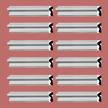 <PRE>Renovator's Supply Crown Molding White Urethane Caravaggio  Design 12 Pieces Totaling 1140inch Length</PRE>zoom2