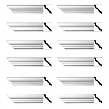 <PRE>Renovator's Supply Cornice White Urethane Haverhill Design 12 Pieces Totaling 1128inch Length</PRE>zoom1