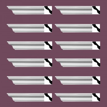 <PRE>Renovator's Supply Simple Cornice White Urethane Halifax Design 12 Pieces Totaling 1152inch Length</PRE>zoom2