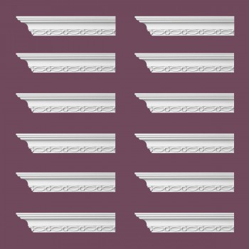 <PRE>Renovator's Supply Ornate Cornice White Urethane Great Barrington  12 Pieces Totaling 1140inch Length</PRE>zoom2