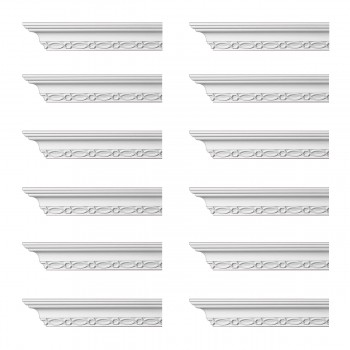 <PRE>Renovator's Supply Ornate Cornice White Urethane Great Barrington  12 Pieces Totaling 1140inch Length</PRE>zoom1