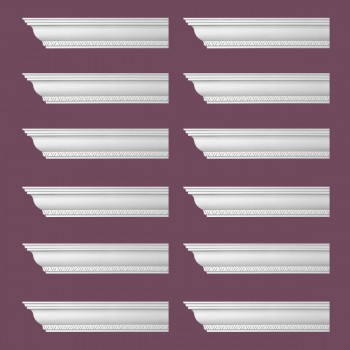 <PRE>Renovator's Supply Ornate Cornice White Urethane Corinth Design 12 Pieces Totaling 1128inch Length</PRE>zoom2
