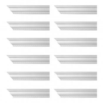 <PRE>Renovator's Supply Ornate Cornice White Urethane Corinth Design 12 Pieces Totaling 1128inch Length</PRE>zoom1