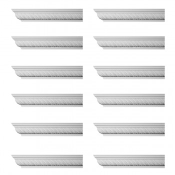 Renovators Supply Ornate Cornice White Urethane Queensborough  12 Pieces Totaling 1152 Length White PrePrimed Urethane Crown Cornice Molding Cornice Crown Home Depot Ekena Millwork Molding Wall Ceiling Corner Cornice Crown Cove Molding