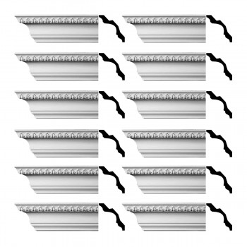 <PRE>Renovator's Supply Cornice White Urethane Bishop's Waltham Ornate  12 Pieces Totaling 1128inch Length</PRE>zoom1