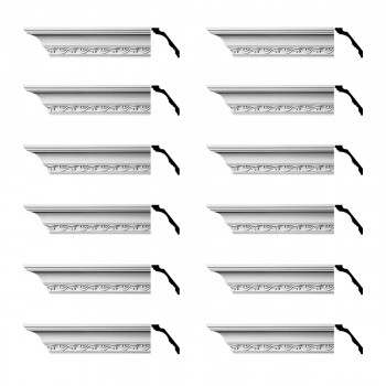 <PRE>Renovator's Supply Cornice White Urethane Capucina Ornate Design 12 Pieces Totaling 1140inch Length</PRE>zoom1