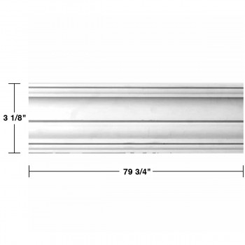 "spec-<PRE> Cornice White Urethane Federal Simple Design 8 Pieces Totaling 638"" Length</PRE>"
