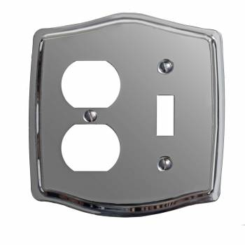 Switchplate Chrome Toggle/Outlet 99714grid