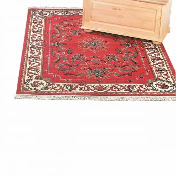 <PRE>Rectangular Area Rug 7' 6inch x  3' 3&quot; Red Polypropylene </PRE>zoom1