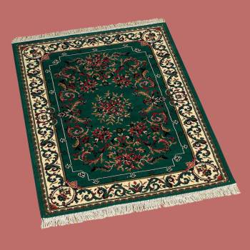 "<PRE>Rectangular Area Rug 5' 6inch x 7' 6""  Green Polypropylene </PRE>zoom2"