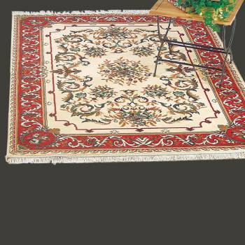 <PRE>Rectangular Area Rug 5' 7inch x  3' 11&quot; Red Polypropylene </PRE>zoom2