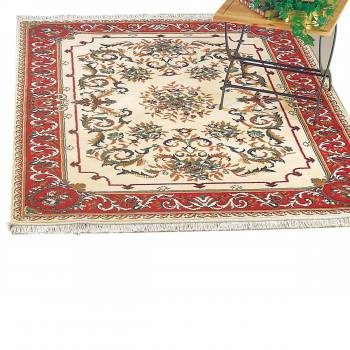 Rectangular Area Rug 5 7 x  3 11 Red Polypropylene