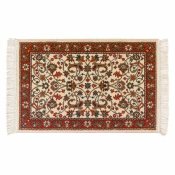 Rectangular Area Rug 3 x 2 Red Polypropylene Rugs Rug Decorative Rugs