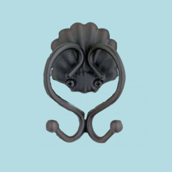 Black Steel Sanibel Double Hook Hooks Decorative Hook Coat Hook