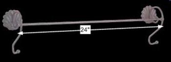 "spec-<PRE>Towel Bar Black Steel Sanibel Towel Bar 24"" </PRE>"