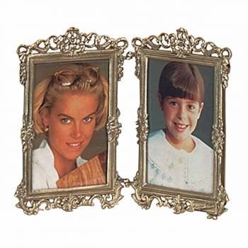 Picture Frame Antique Brass Frame 7.5