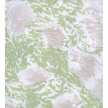 Wallpaper Green Shell Embossed Textured Vinyl 99856grid