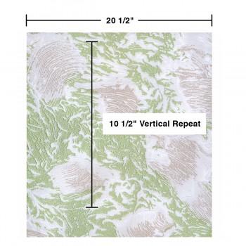 spec-<PRE>Wallpaper Green Shell Embossed Textured Vinyl </PRE>