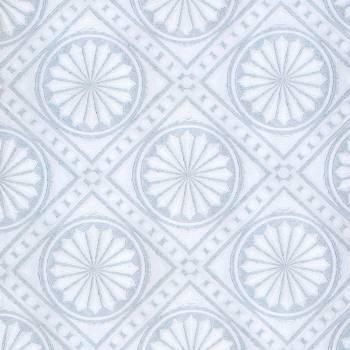 <PRE>Wallpaper Blue/White Medallion Embosses Textured Vinyl </PRE>