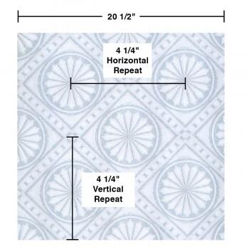 spec-<PRE>Wallpaper Blue/White Medallion Embosses Textured Vinyl </PRE>