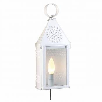 Outdoor Lighting White Tin Wall Light 99884grid