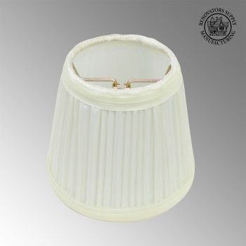 <PRE>Lamp Shade Eggshell White Fabric 4 1/2&quot; Mini Drum Clip On </PRE>