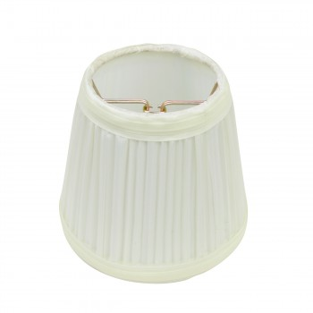 Lamp Shade Eggshell White Fabric 4 12 Mini Drum Clip On