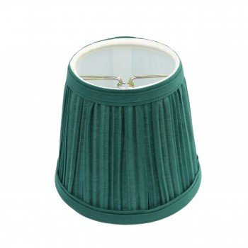 Lamp Shade Hunter Green Fabric 4 1/16