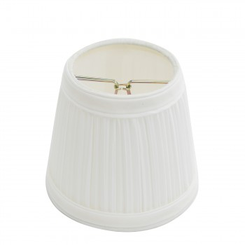 Lamp Shade White Fabric 4 116 Mini Clip On